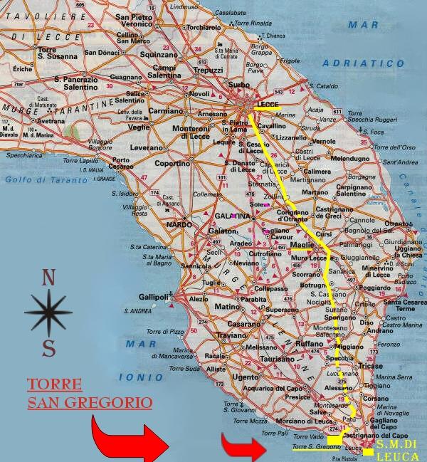 Cartina Dettagliata Puglia.Cartina Del Salento